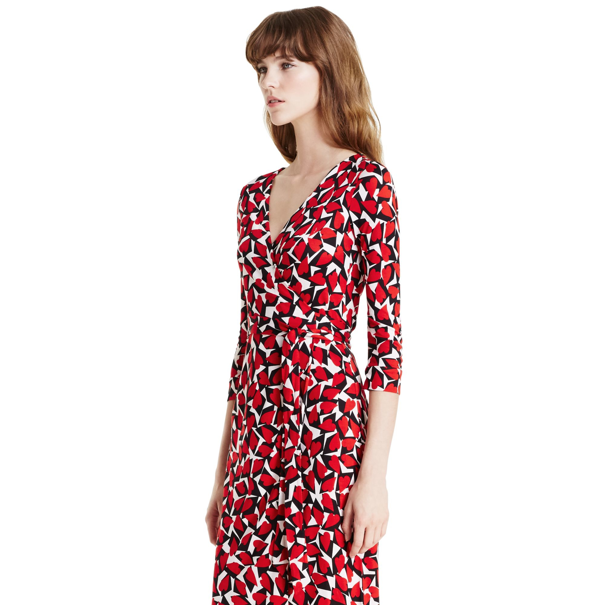 9ba33b55ab Diane von Furstenberg New Julian Two Silk Jersey Wrap Dress in Red ...
