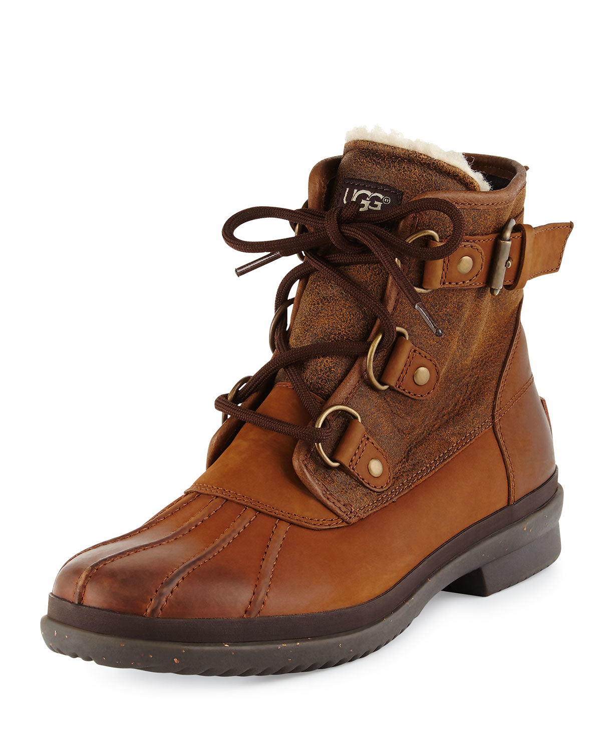 9abb5821ca2 UGG Brown Cecile Lace-up Weather Boot