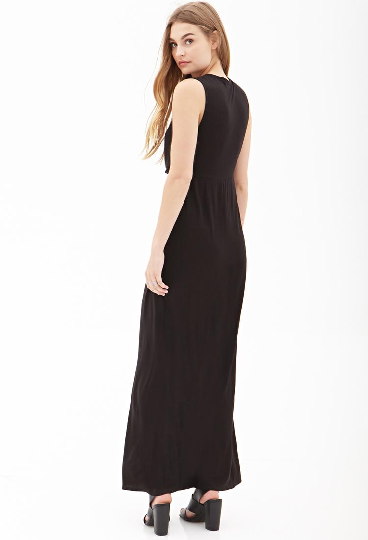 7b9255e101 Long Black Dress Forever 21