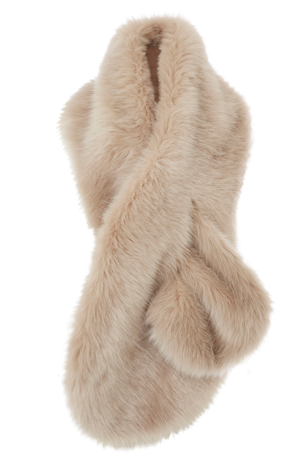 Coast Luella Faux Fur Scarf In Natural Lyst