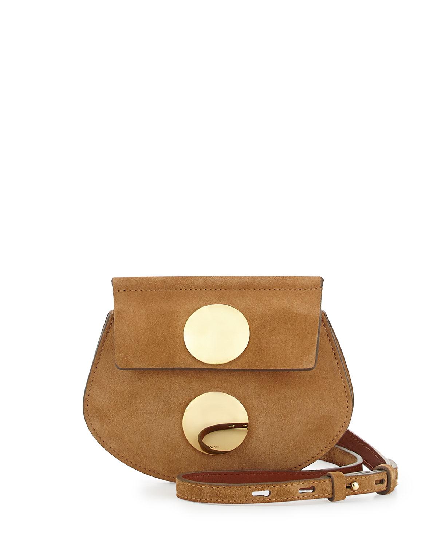 b98158003b73b Chloé Faye Mini Suede Cross-Body Bag in Natural - Lyst