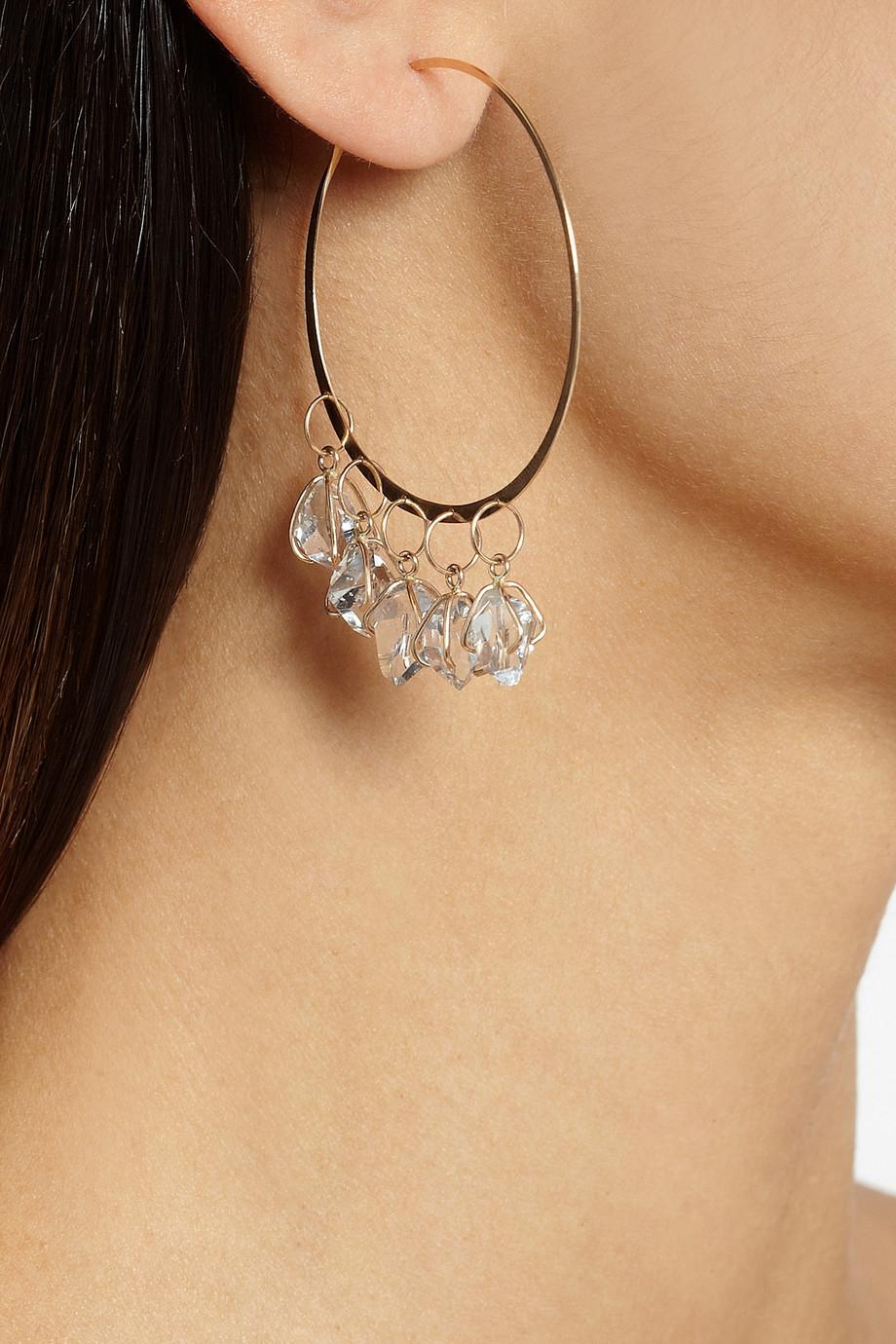 Melissa Joy Manning 14-karat Gold Herkimer Diamond Earrings f1GjnZ