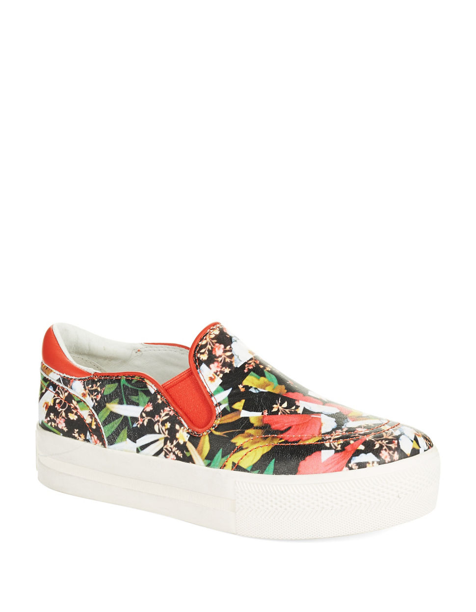 ash jungle leather slip on sneakers lyst