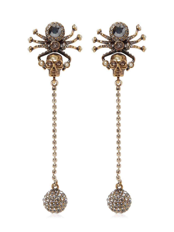 Embellished-skeleton earrings Alexander McQueen fPkyRxo