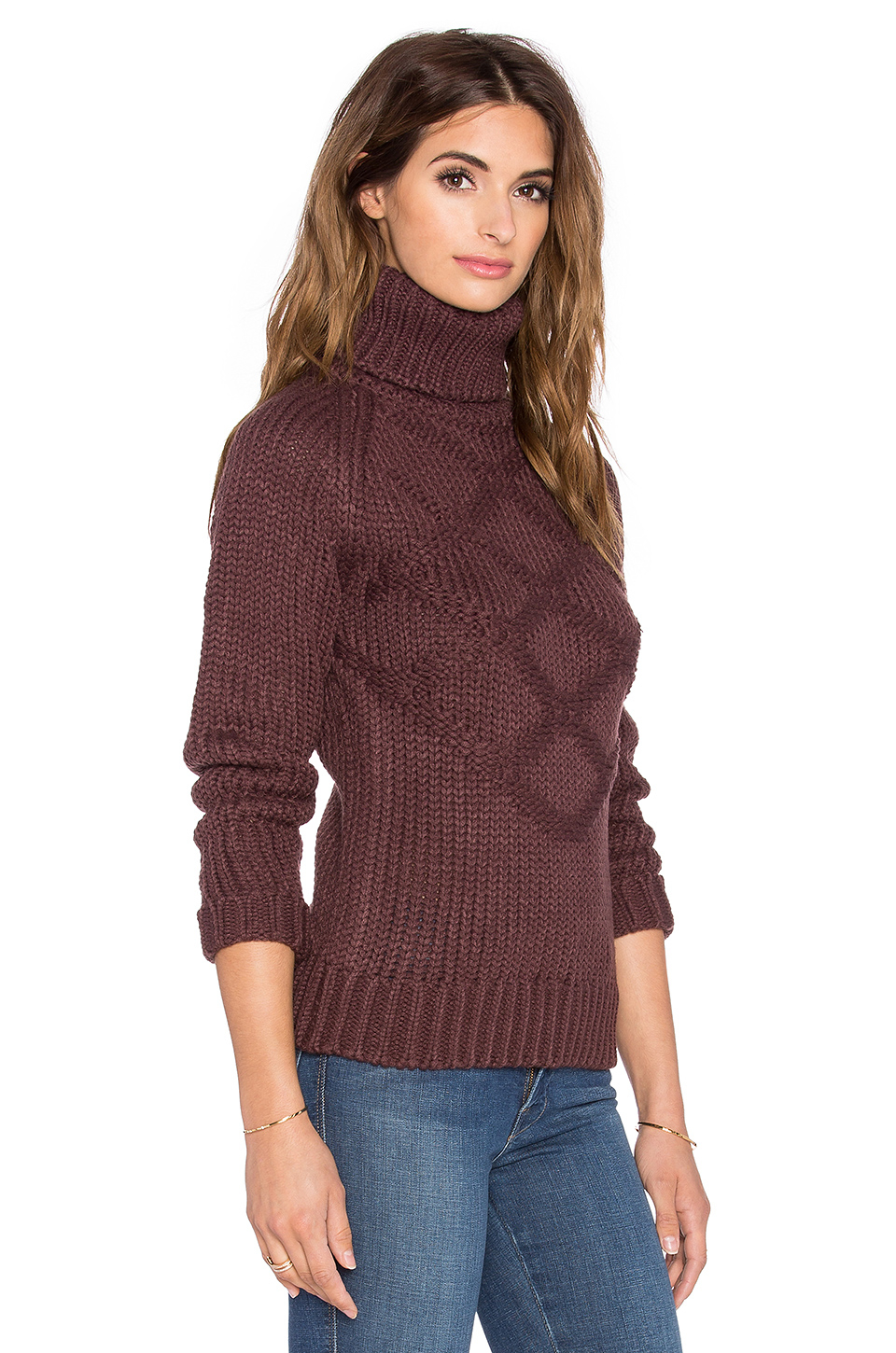 g star raw aril turtleneck sweater in purple lyst. Black Bedroom Furniture Sets. Home Design Ideas