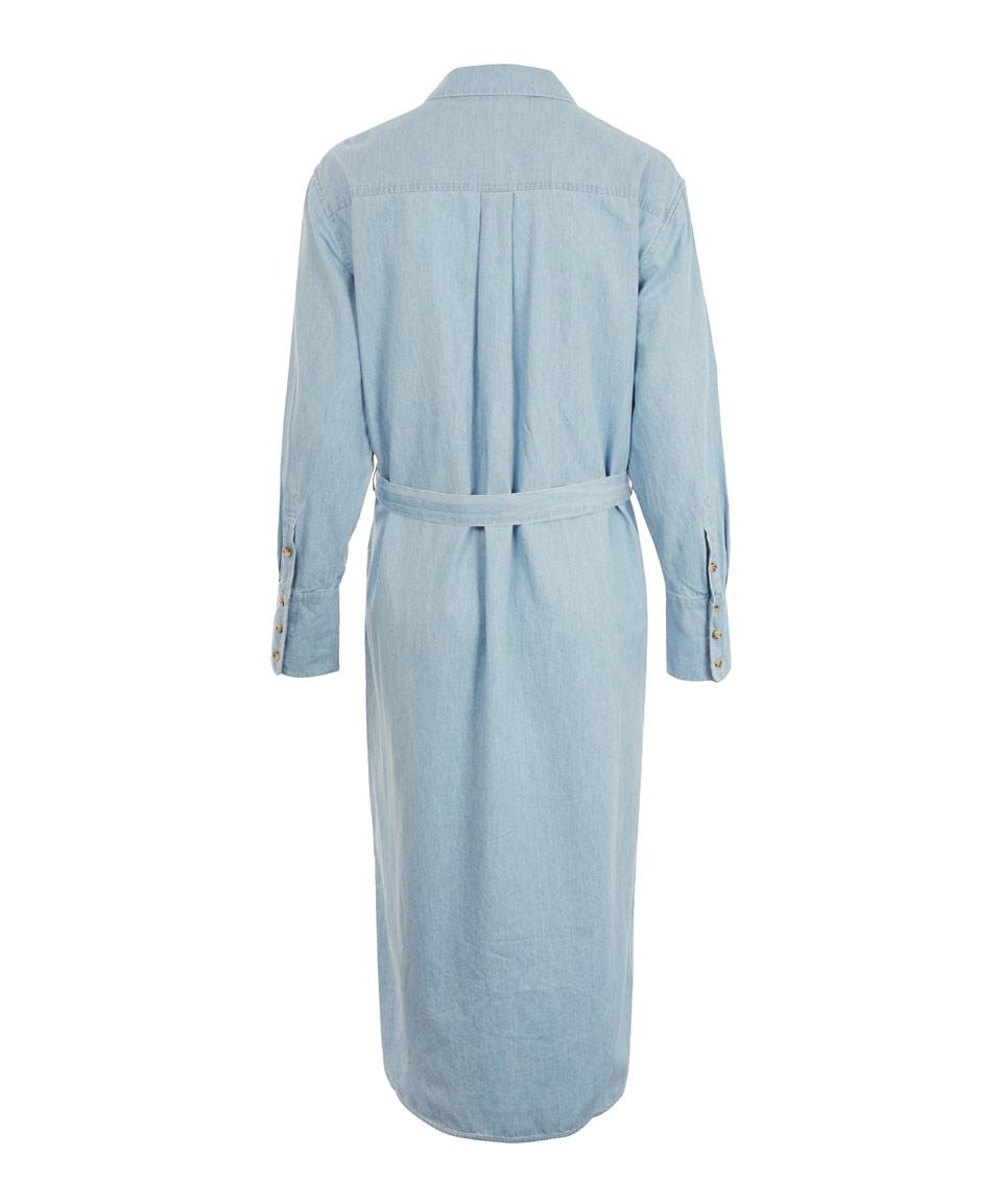 Unique Women Fashion Light Blue Denim Shirt With Two Pockets Ladies Casual