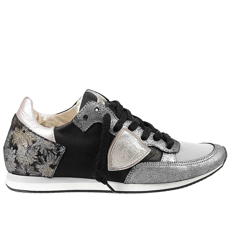 philippe model sneakers in black lyst. Black Bedroom Furniture Sets. Home Design Ideas