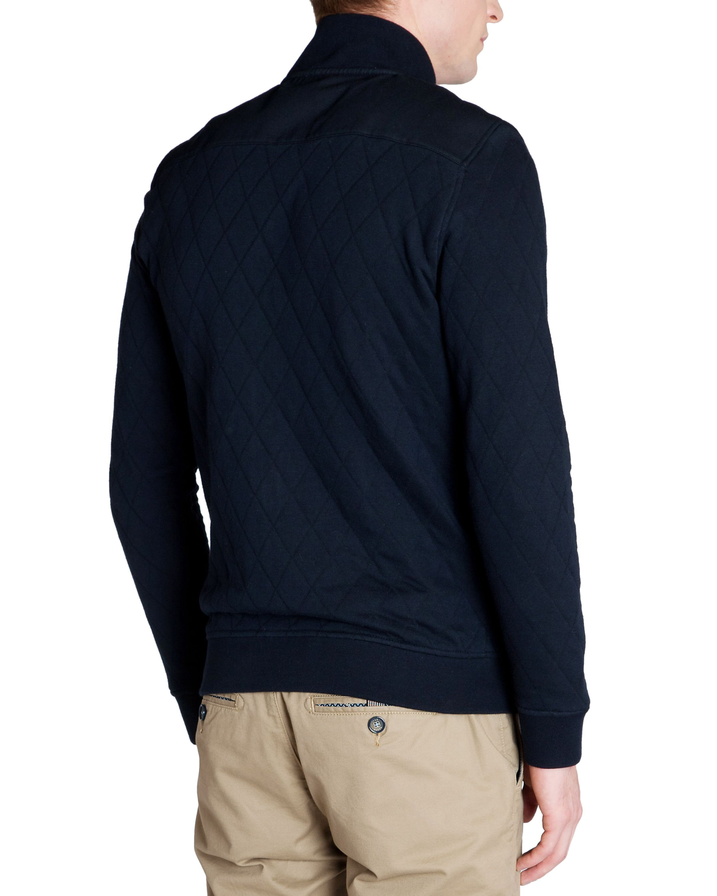 Ted Baker Valylow Quilted Jersey Jacket in Navy (Blue) for Men