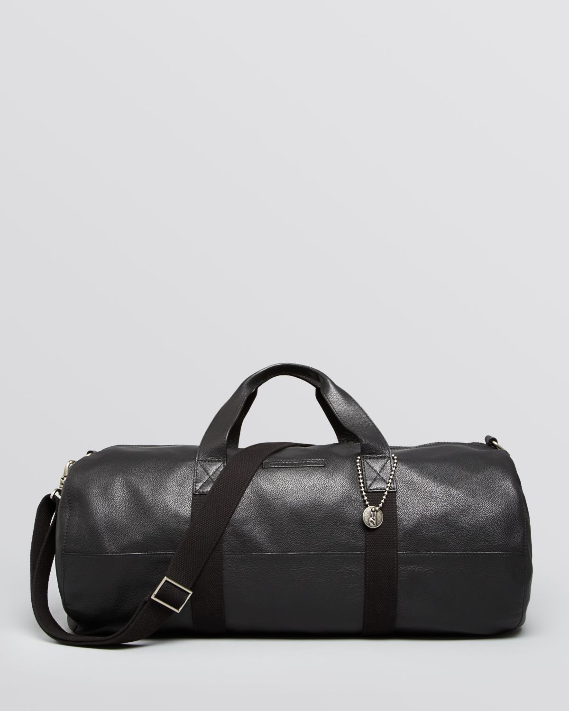 Gym Bag Briefcase: John Varvatos Chelsea Leather Gym Bag In Black For Men