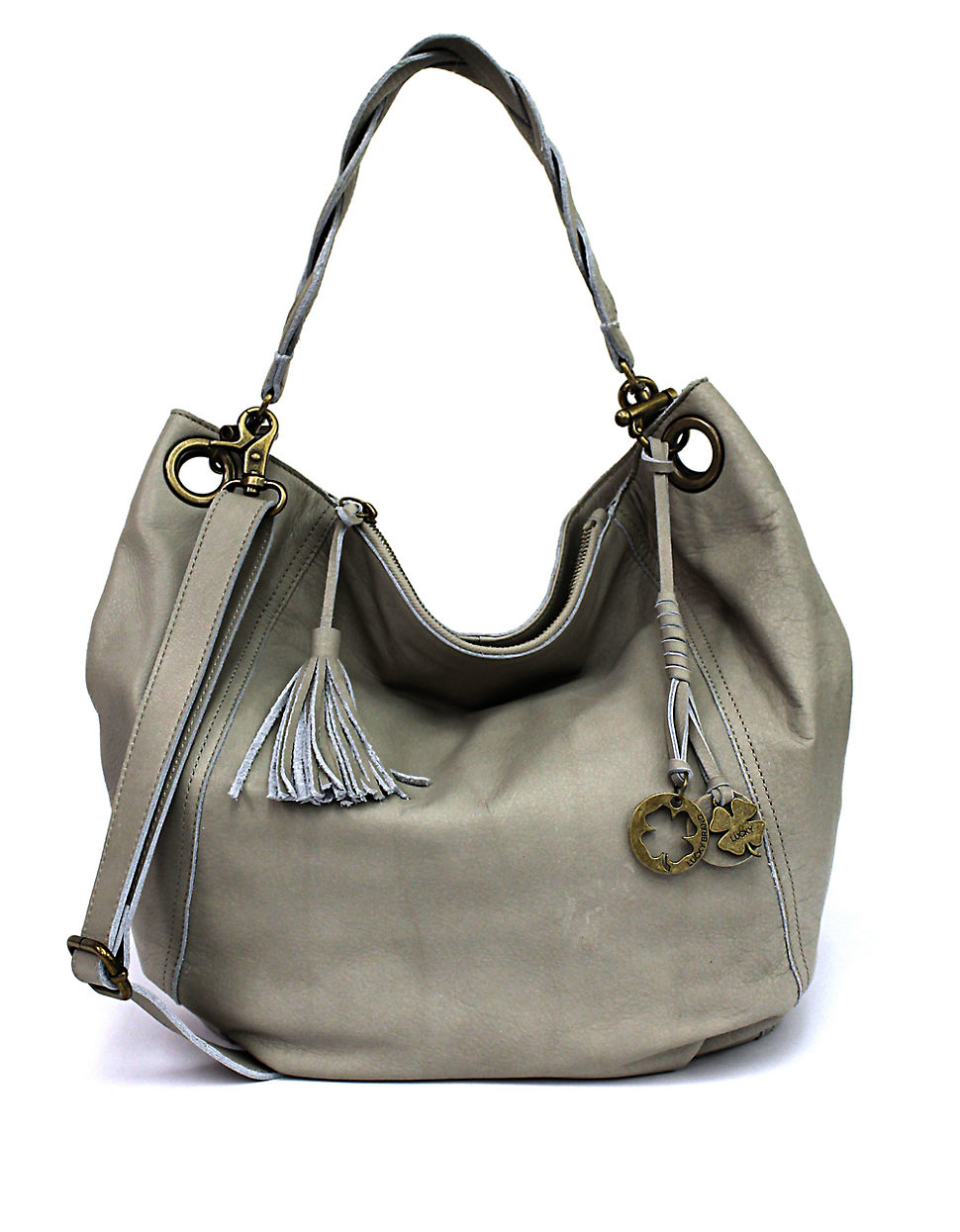 Lucky brand Ashmore Leather Hobo Bag in Metallic | Lyst