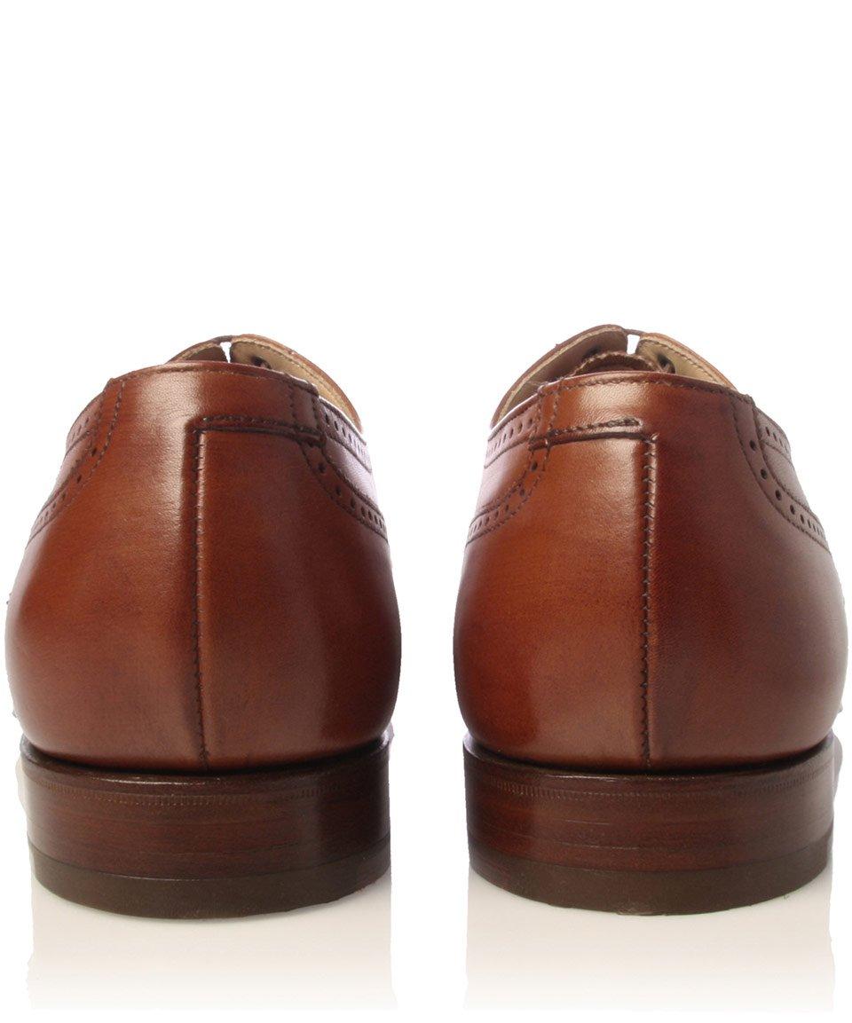 Crockett and Jones Brown Drummond Wingcap Leather Shoes for Men