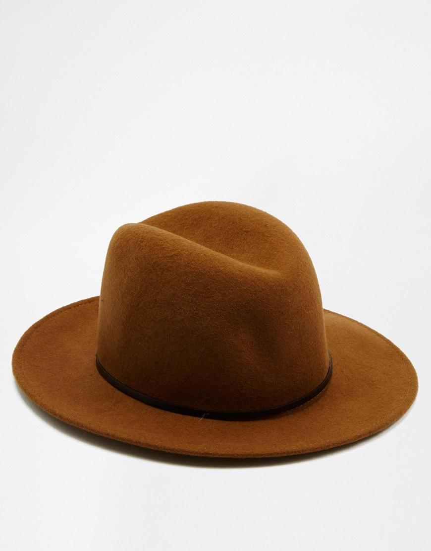 b364a7f82fd Lyst - Catarzi Fedora Wide Brim Hat - Brown in Brown for Men
