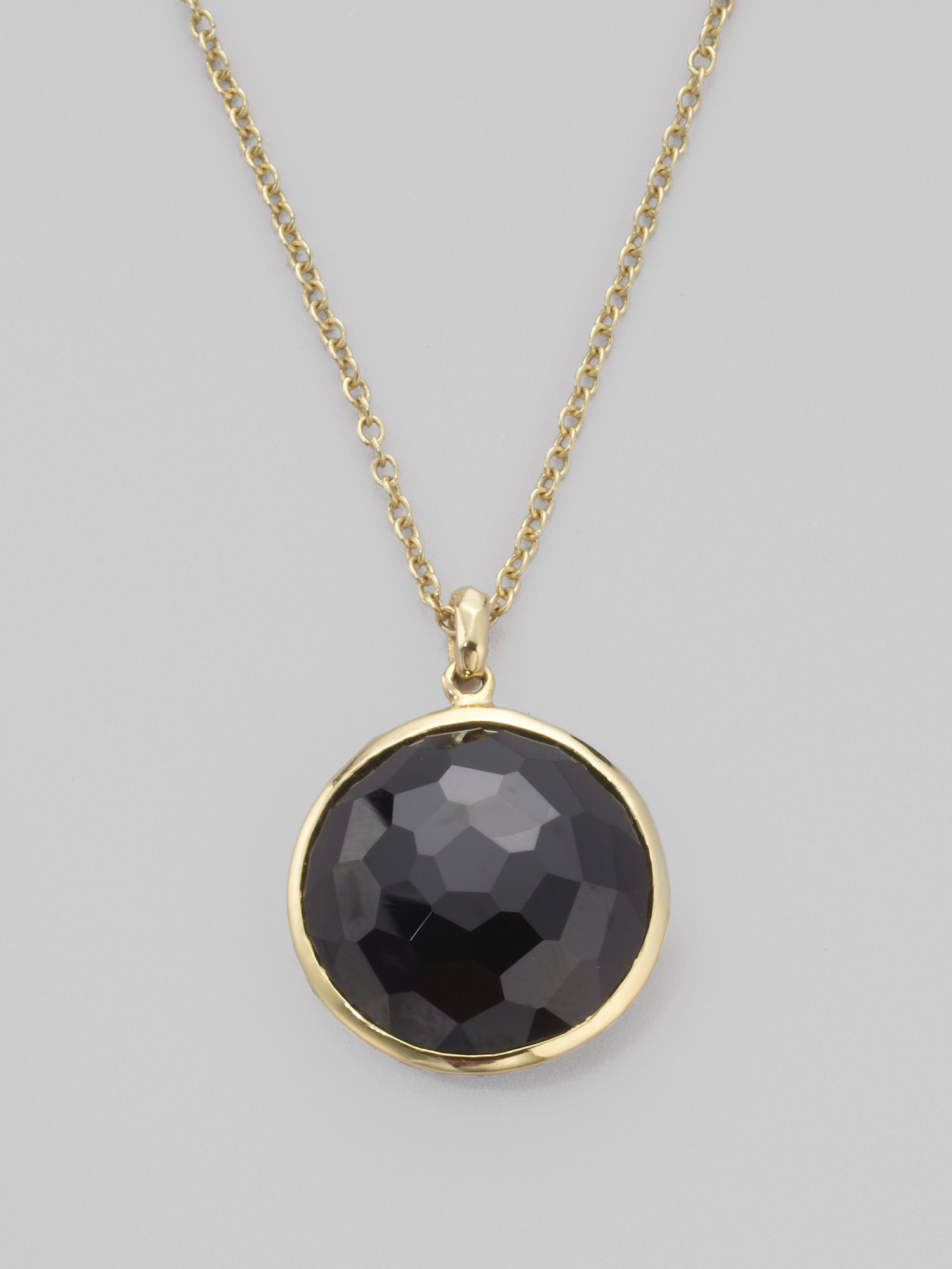 Lyst ippolita rock candy lollipop black onyx 18k yellow gold gallery aloadofball Images