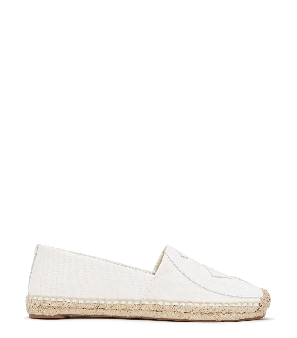tory burch lonnie espadrille in white lyst