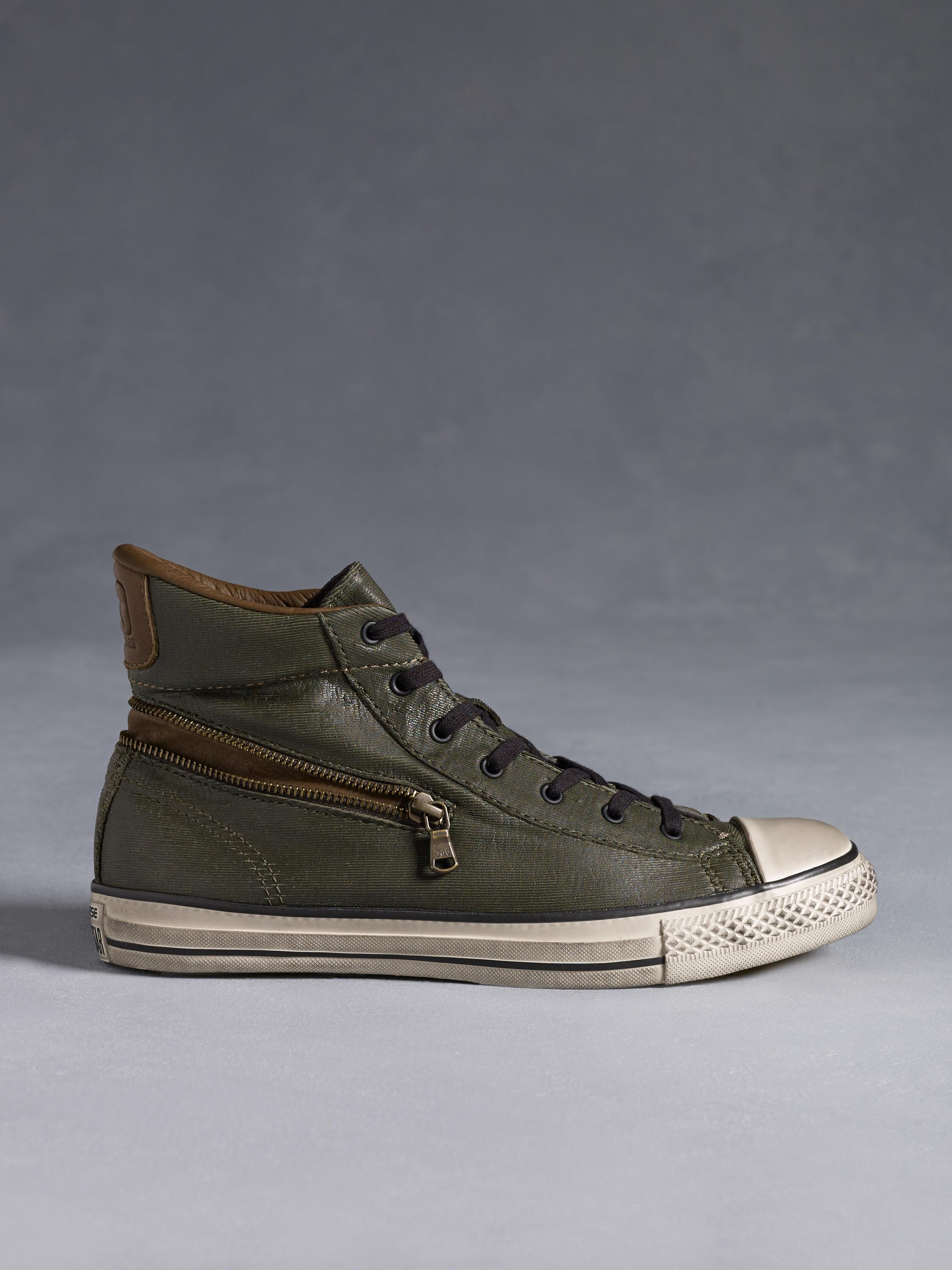8996972f0e1b John Varvatos Chuck Taylor All Star Back Zip High Top in Green for ...