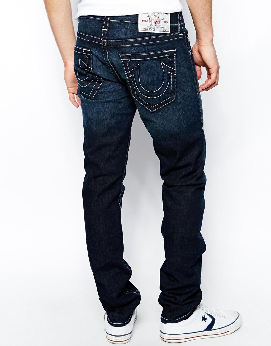e14021300856 Lyst - True Religion Jeans Rocco Slim Fit Lonestar Dark Wash in Blue ...