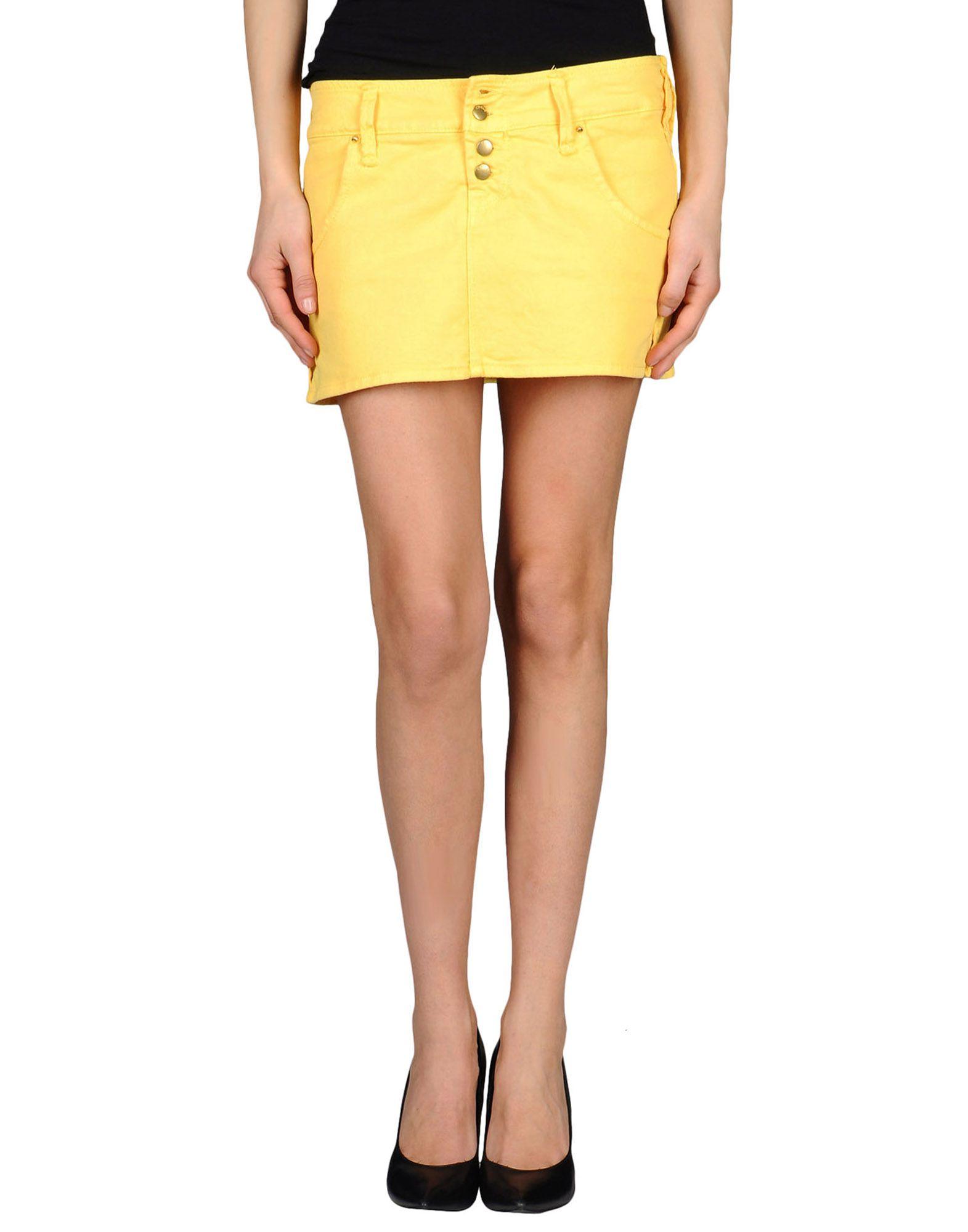 cycle denim skirt in yellow lyst