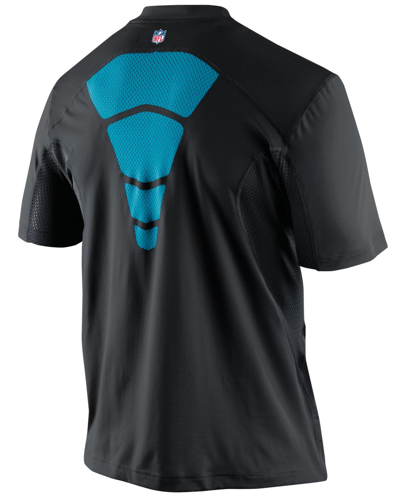 Lyst Nike Men 39 S Short Sleeve Carolina Panthers Hypercool