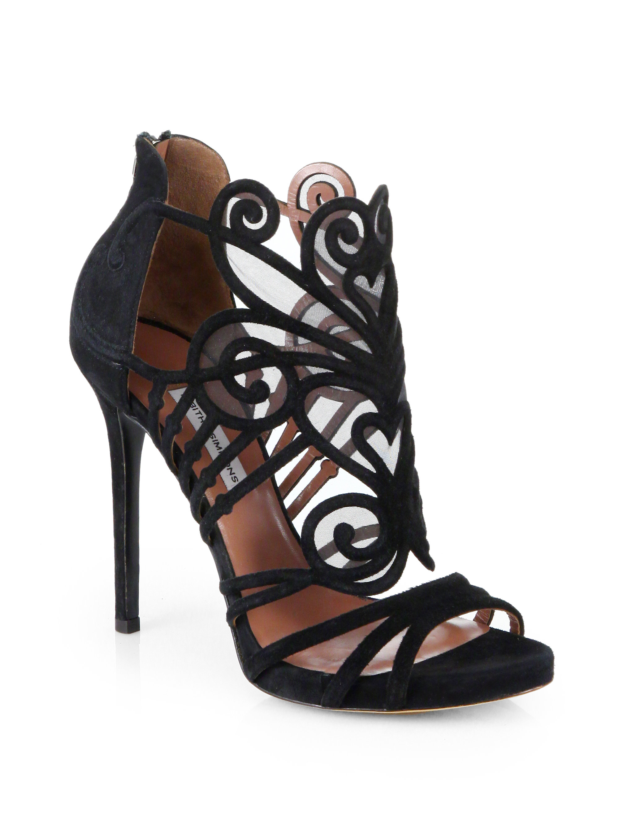 Tabitha Simmons Aura Suede Amp Mesh Platform Sandals In