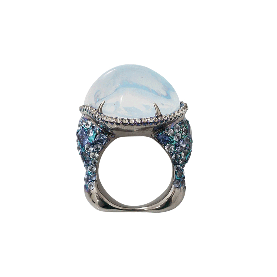 Opal and Water Sapphire Ring G5qlO3zd7u