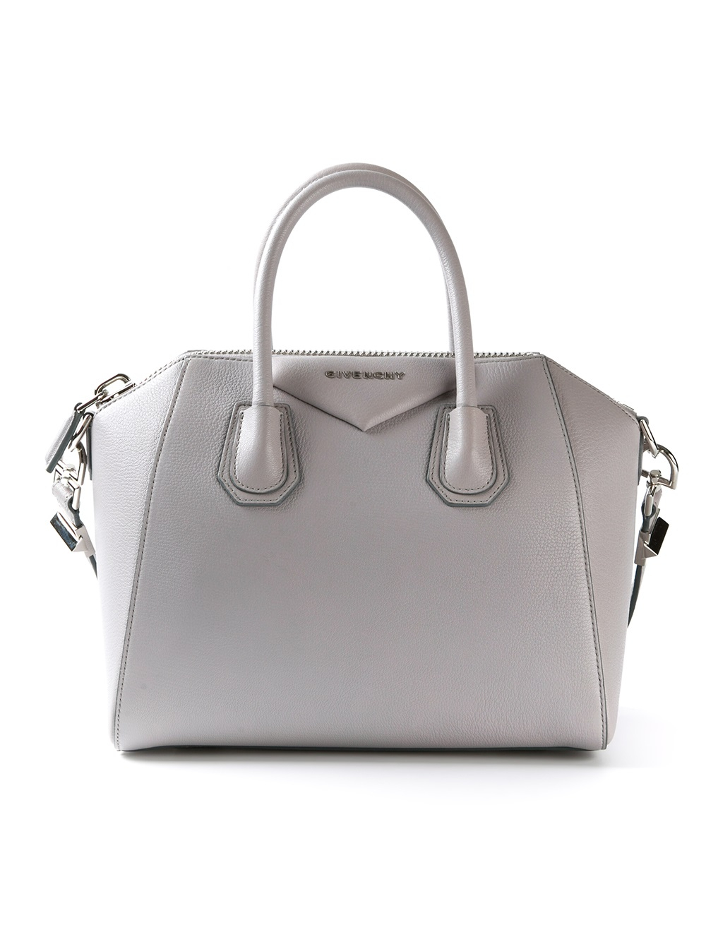 lyst givenchy antigona small tote in gray. Black Bedroom Furniture Sets. Home Design Ideas