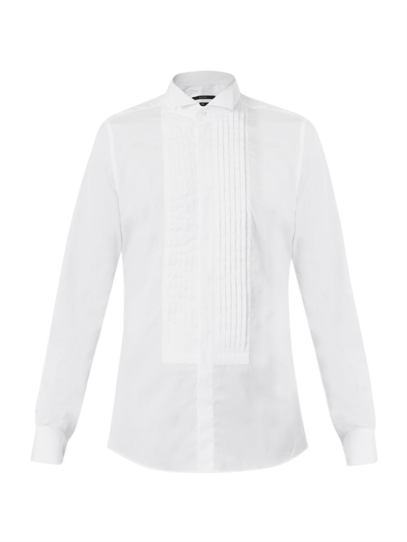 Lyst gucci wing tip collar dinner shirt in white for men for Wing tip collar shirt