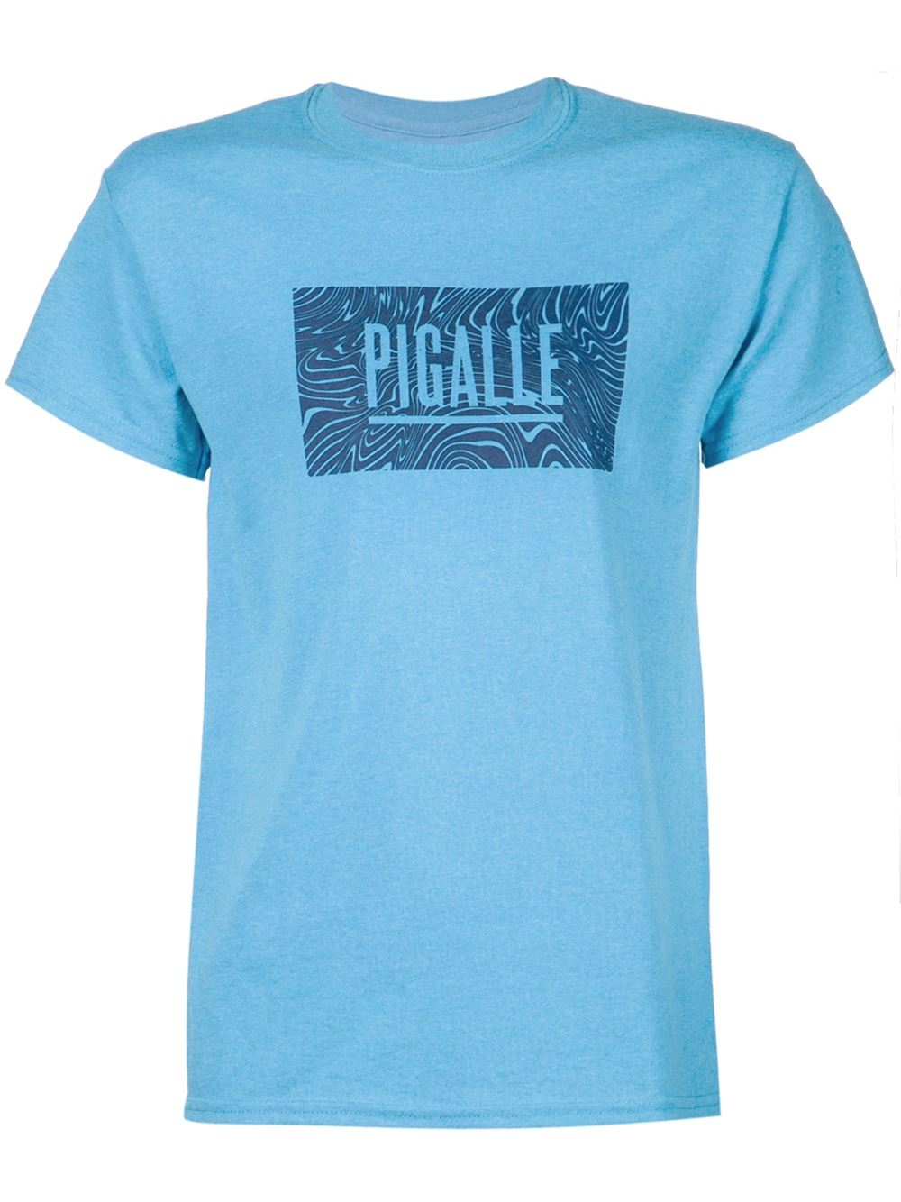 Pigalle logo print t shirt in blue for men lyst for Logo printed t shirts