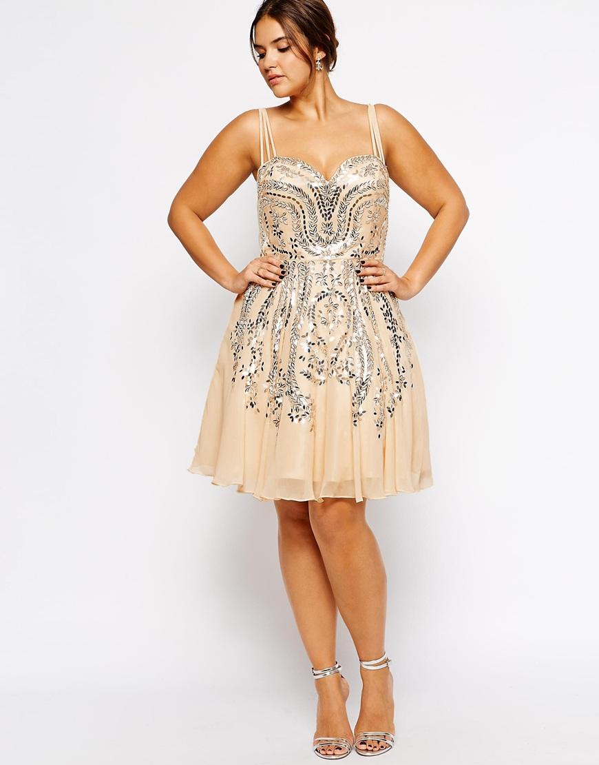 Plus Size Flora Embellished Dress