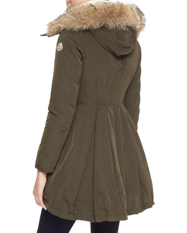 moncler khaki coat