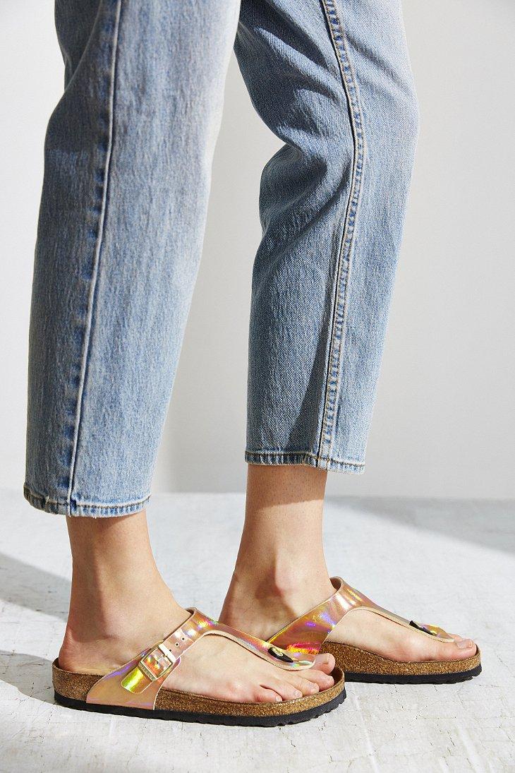 Birkenstock Gizeh Birko Flor Mirror Sandal In Pink Lyst