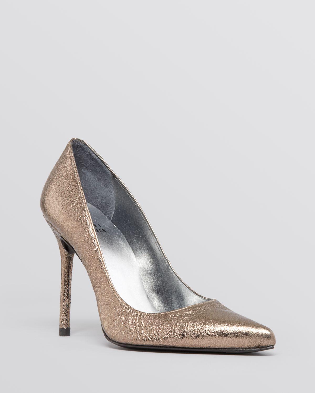 pointed toe pumps - Metallic Stuart Weitzman o7QcJ