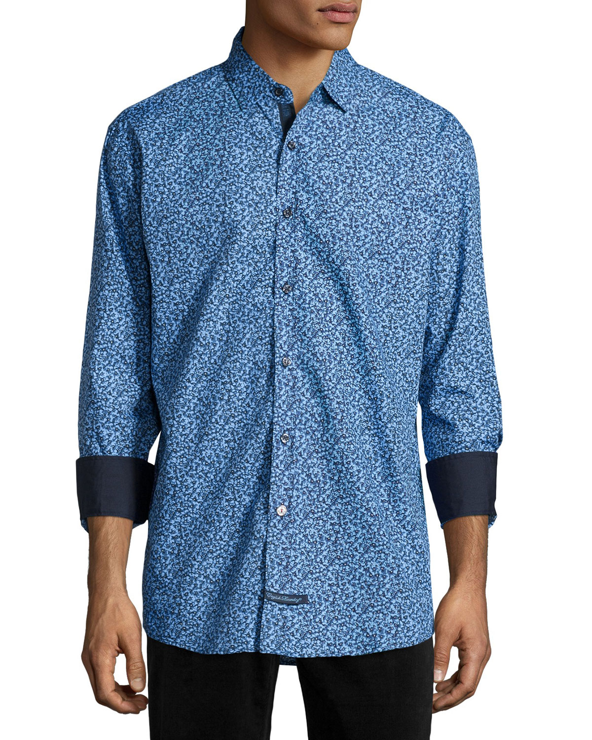 Lyst english laundry floral print long sleeve sport for Print long sleeve shirt