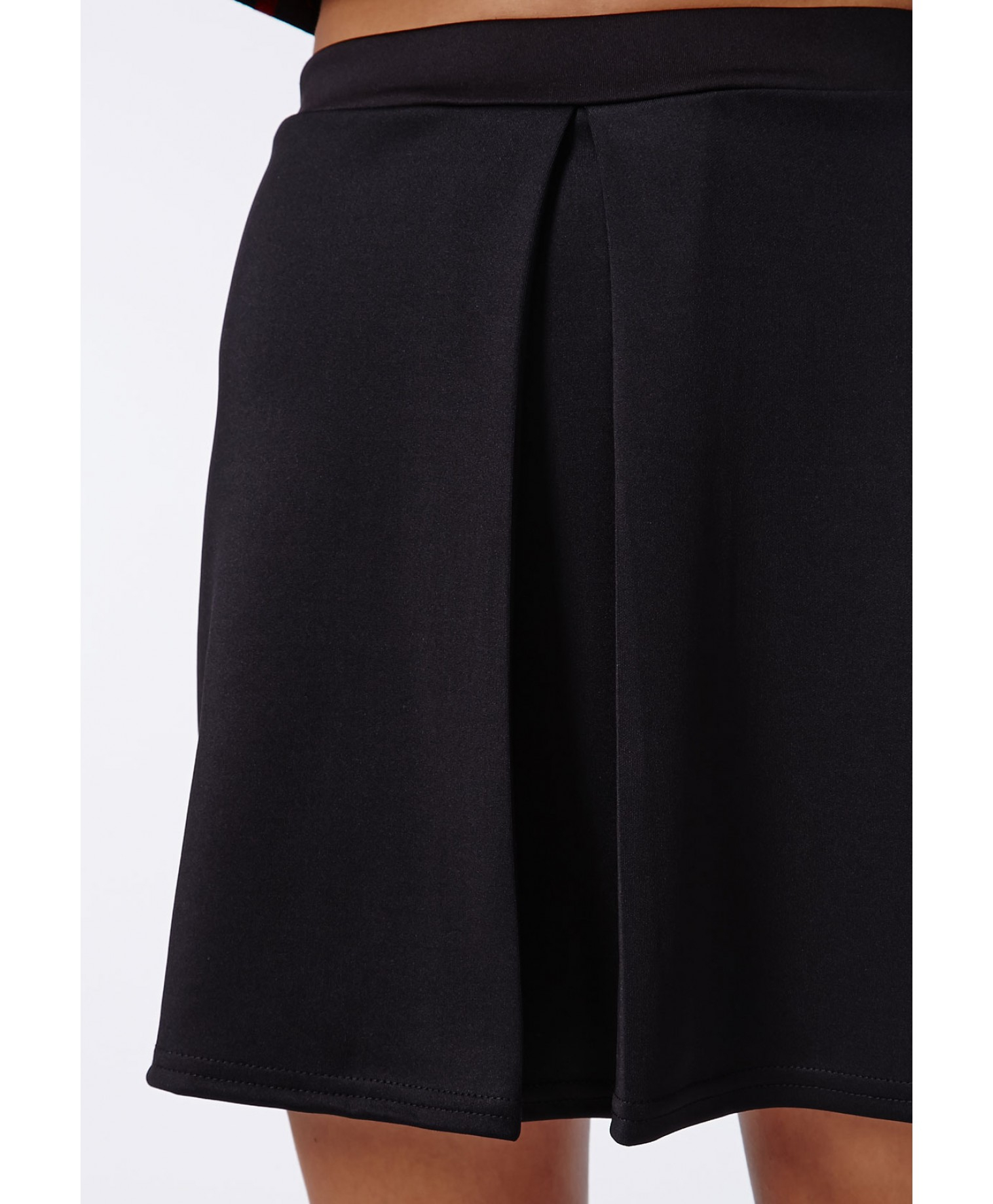 missguided rene front pleat a line skirt black lyst
