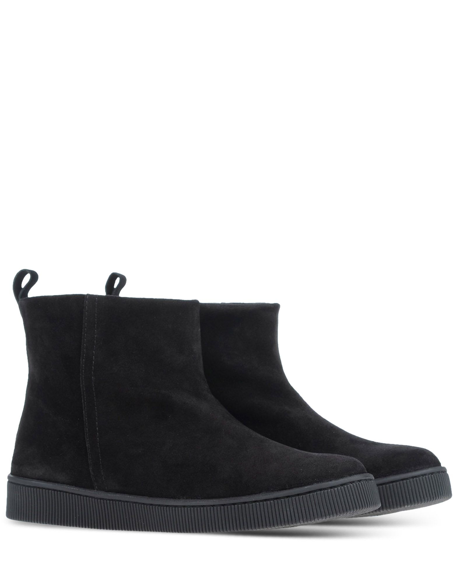 pedro garcia fur lined suede ankle boots in black lyst