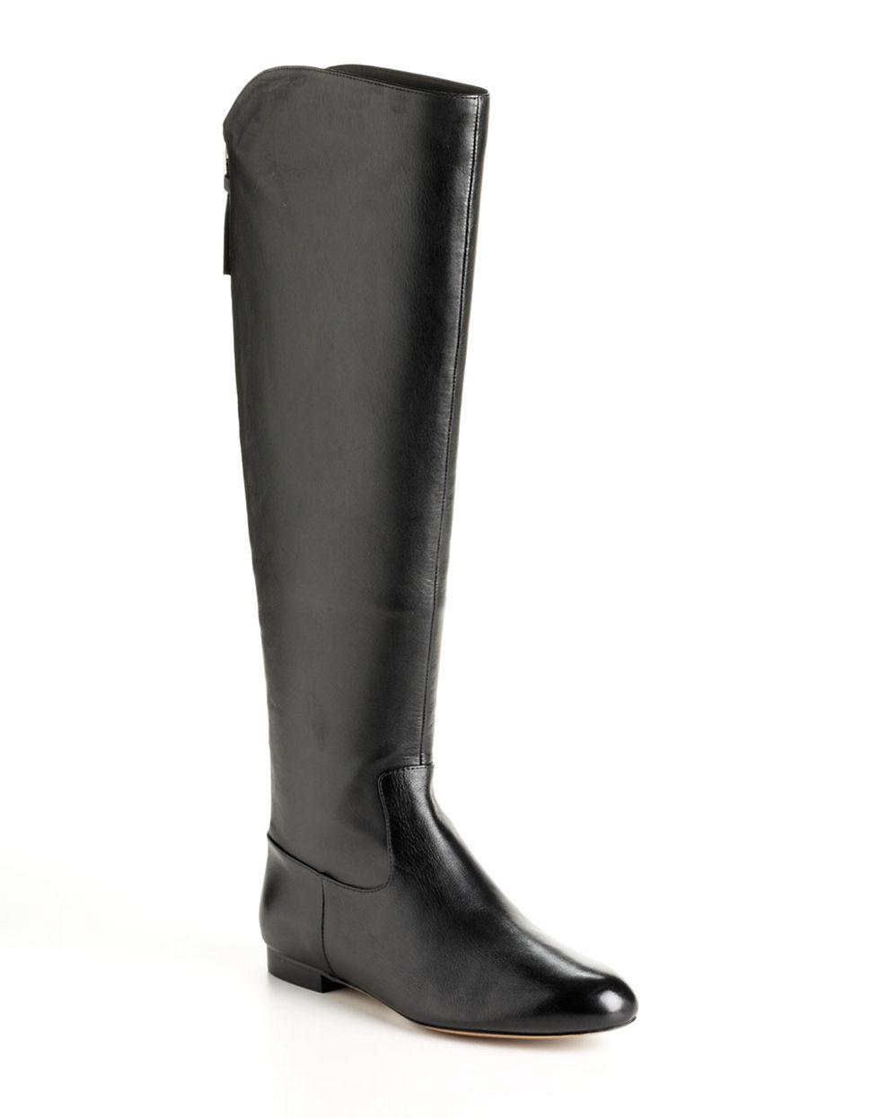 elie tahari suede boots in black lyst