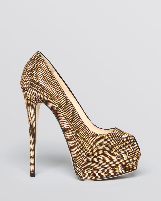 Gold Stud Heels