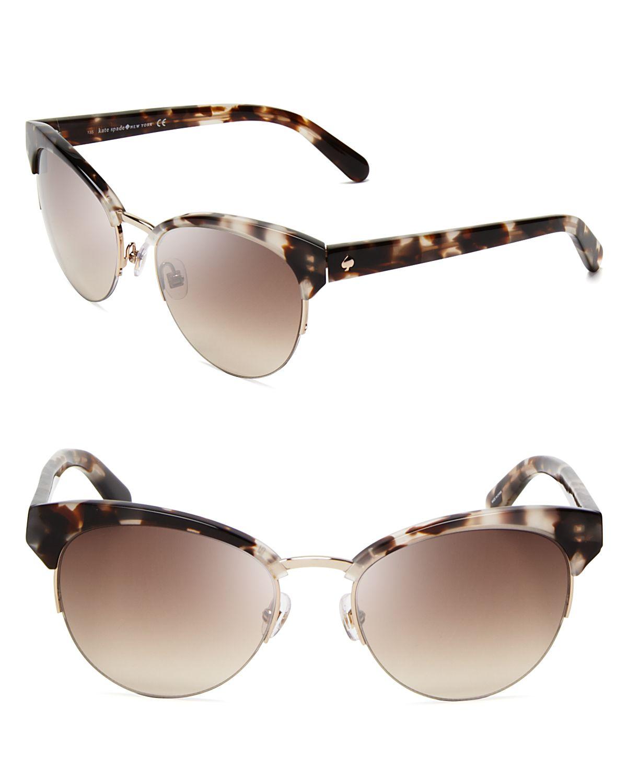 Kate spade new york Ziba Cat Eye Sunglasses in Brown | Lyst