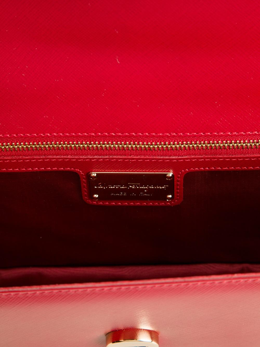 Ferragamo Miss Vara Large Cross Body Bag in Red