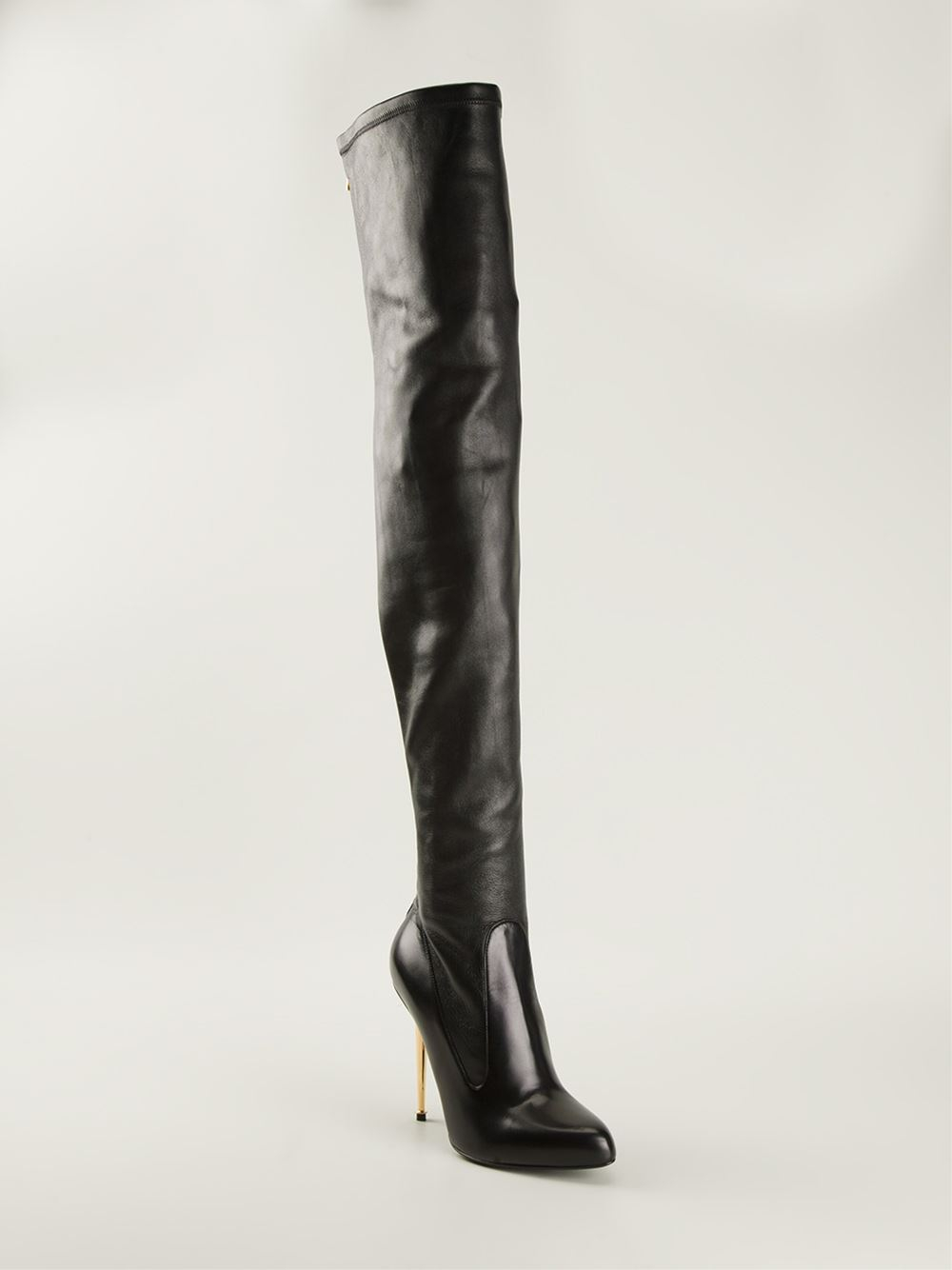 tom ford overtheknee boots in black lyst
