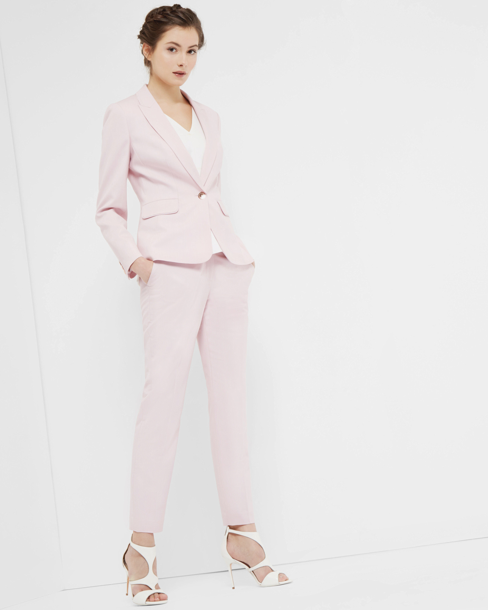79e1e2ca1 Lyst - Ted Baker Pastel Tailored Jacket in Pink