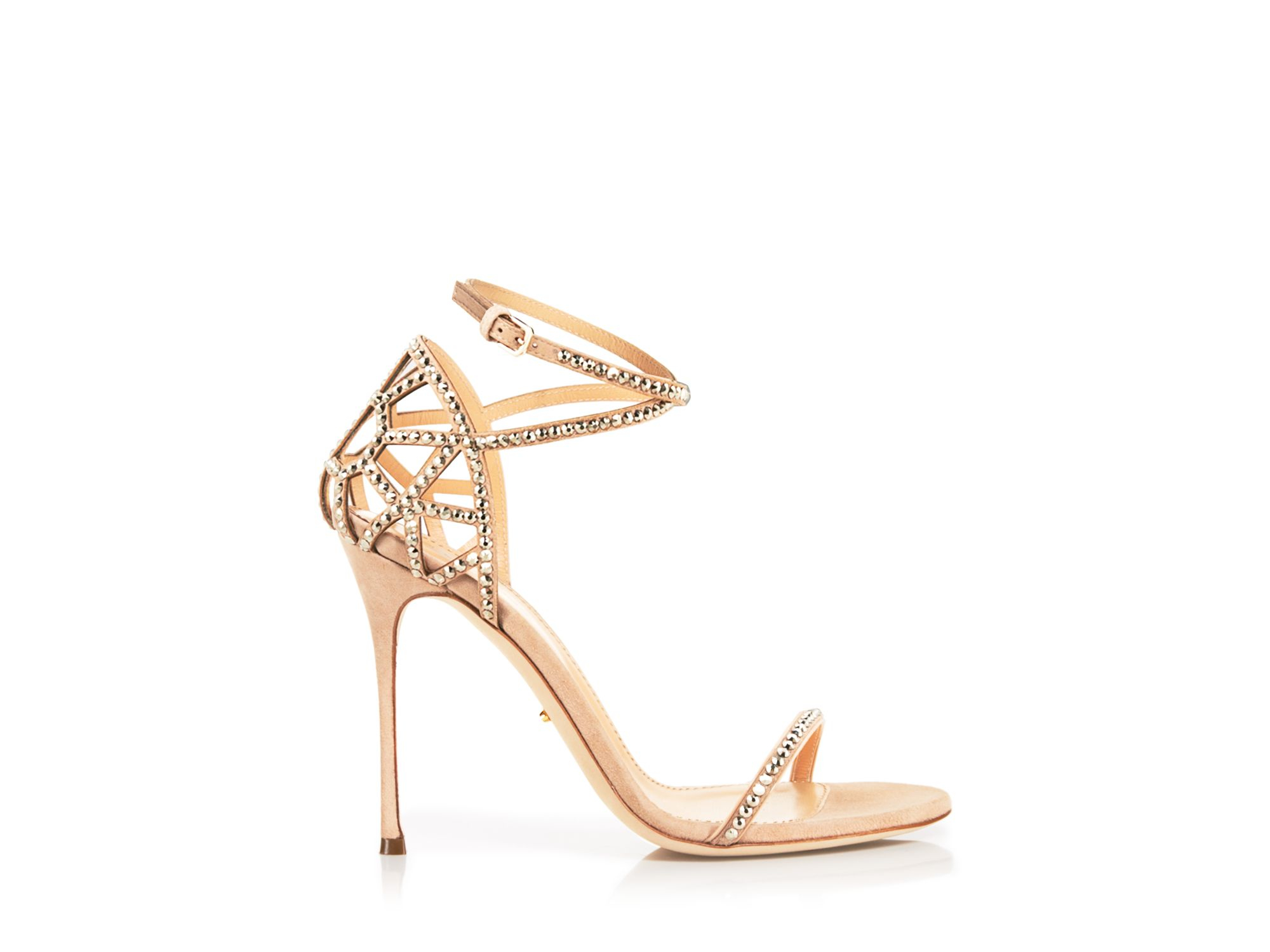Lyst - Sergio rossi Strappy Sandals - Puzzle High Heel in Natural