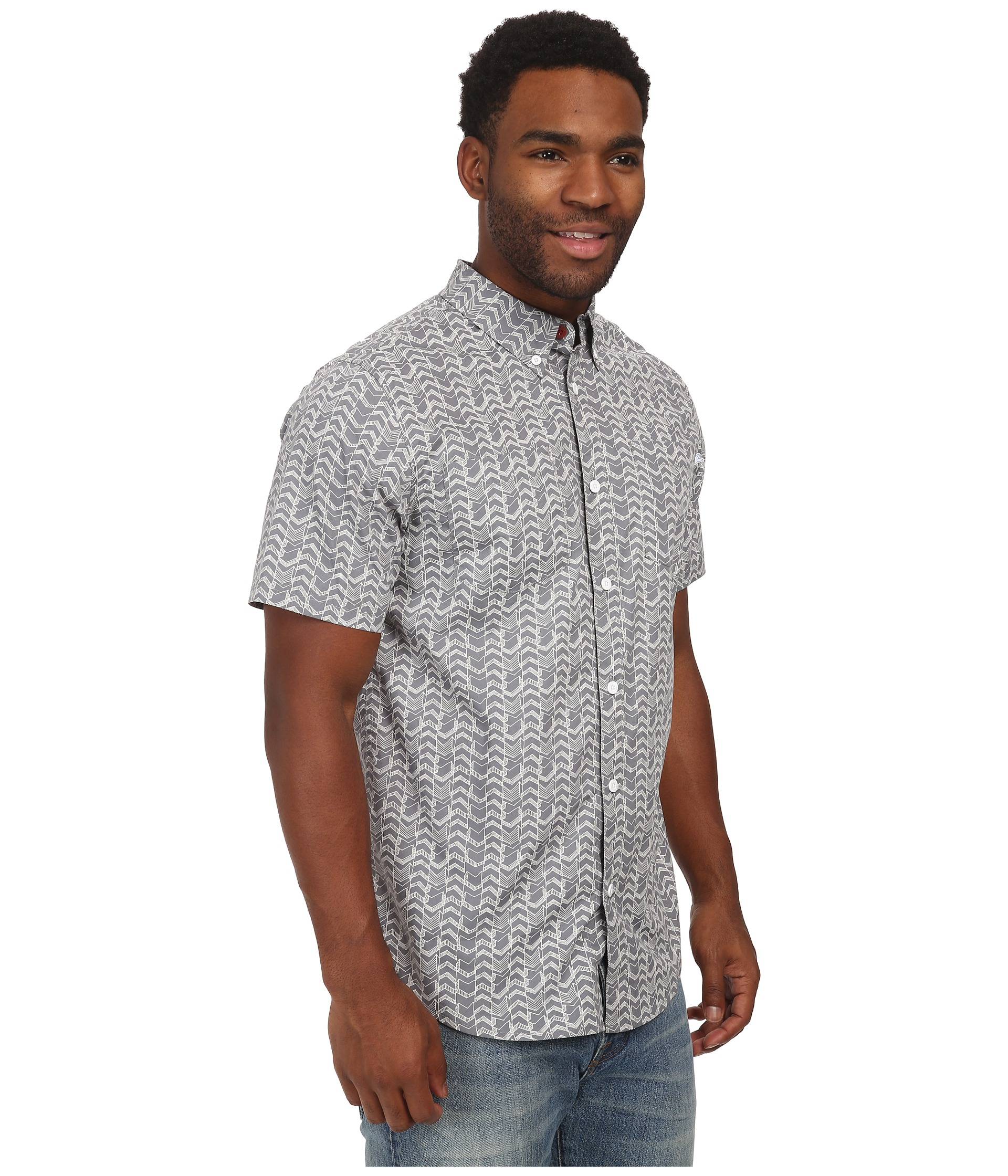 Lyst Adidas Gonz Short Sleeve Button Up In Gray For Men
