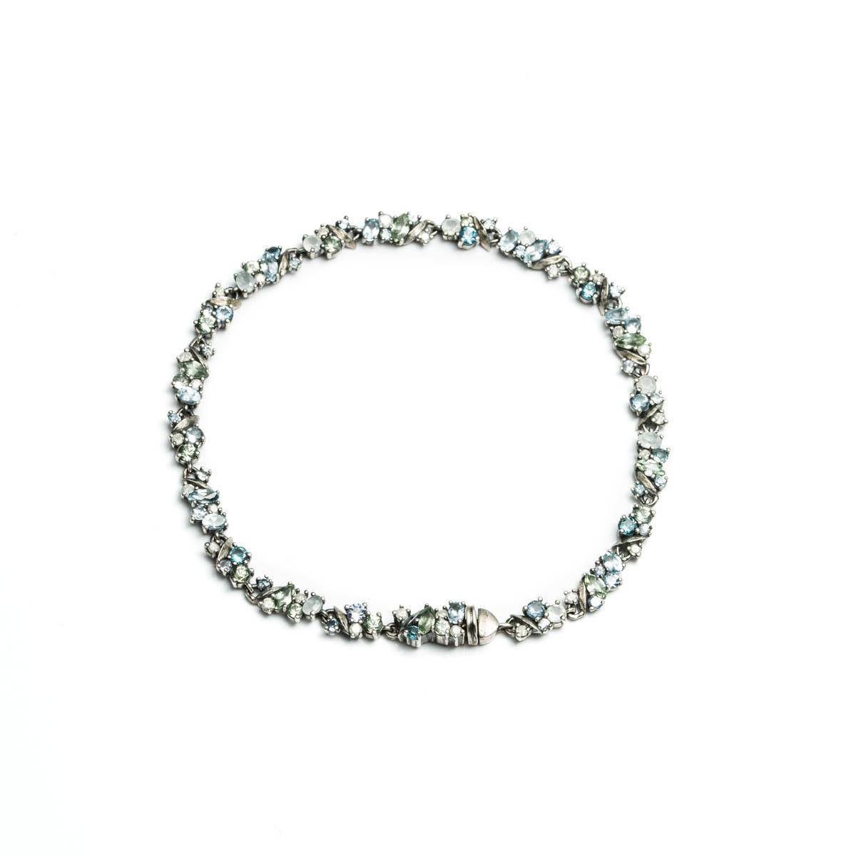 ... Bittar Silver Lake Marquis Delicate Tennis Bracelet in Green | Lyst