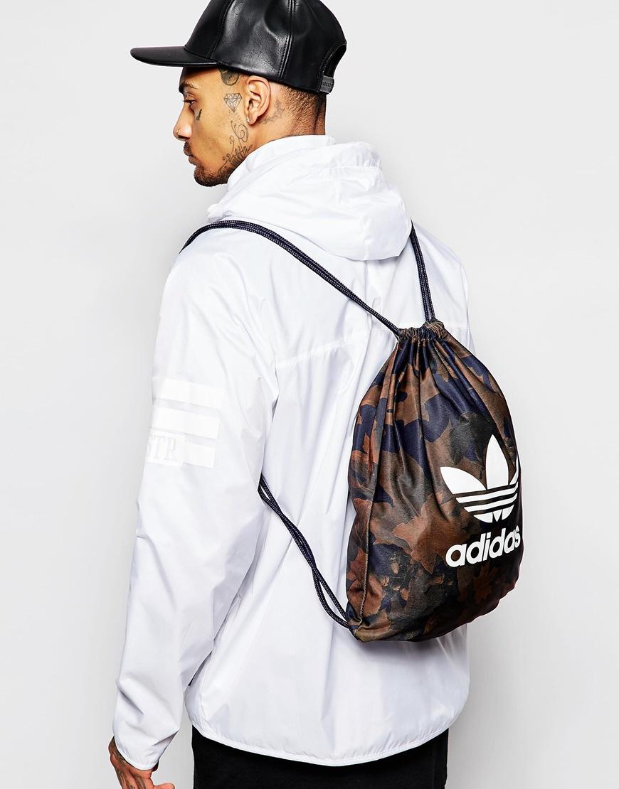 2ec8fe9c89 Lyst - adidas Originals Drawstring Backpack In Camo Ax6315 in Green ...