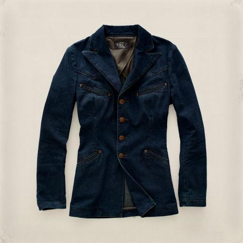 Rrl Western Denim Jacket In Blue Lyst