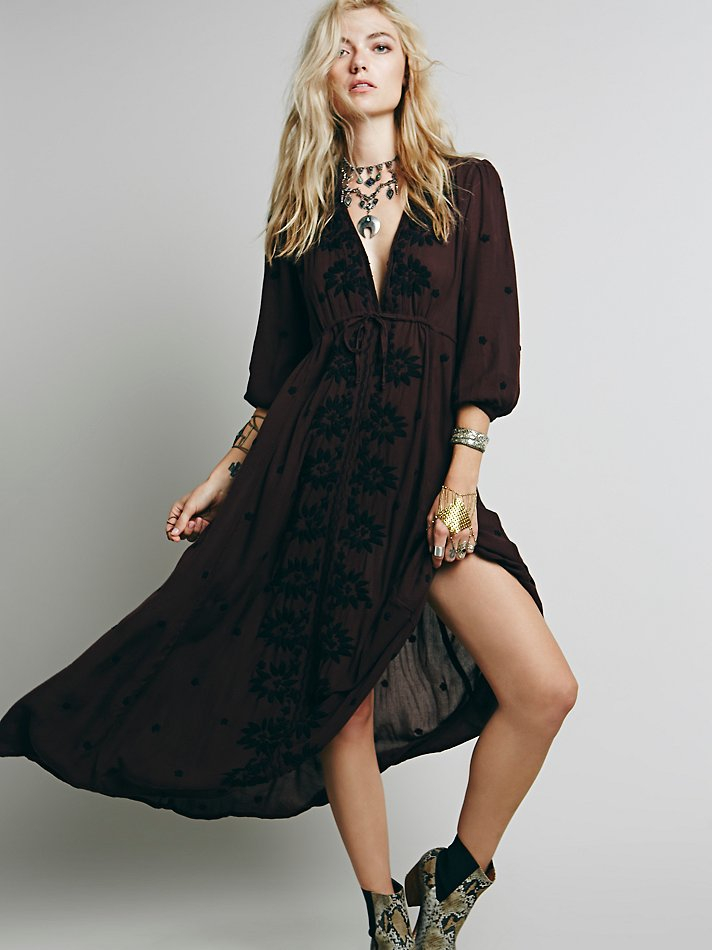 Lyst Free People Embroidered Fable Dress In Red