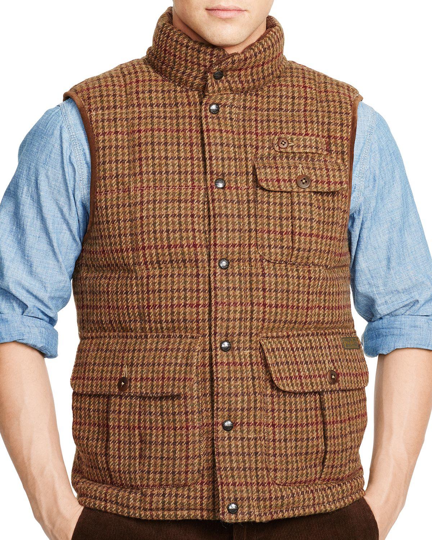 Polo Ralph Lauren Montville Tweed Vest in Brown for Men - Lyst
