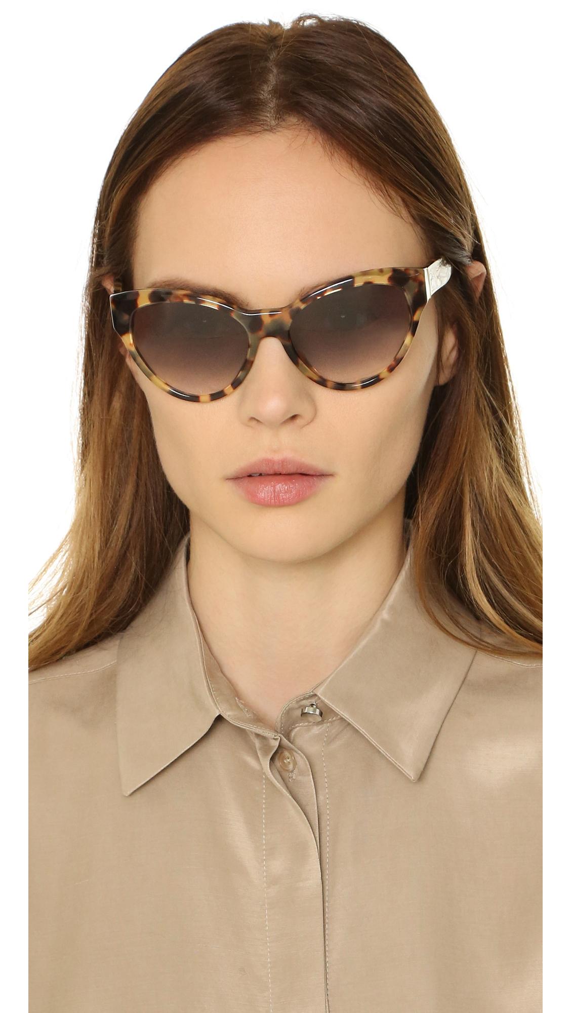 f27b34b14b switzerland prada pr 09qs 2au6s1 havana cat eye plastic sunglasses 80525  55885  switzerland lyst prada cat eye sunglasses 34318 c9cda