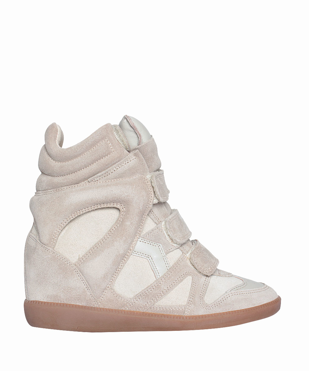 isabel marant white suede bekett sneakers in beige neutro lyst. Black Bedroom Furniture Sets. Home Design Ideas