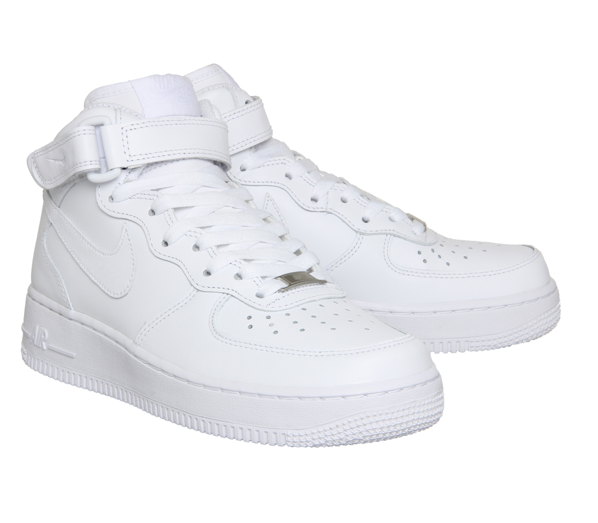 nike air force 1 mid w in white lyst. Black Bedroom Furniture Sets. Home Design Ideas